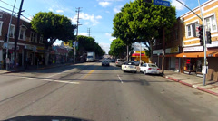 POV Driving Cesar Chavez Boulevard In East Los Angeles CA Stock Footage