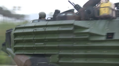 US - Army - Landing Tanks 09 - On Land Stock Footage