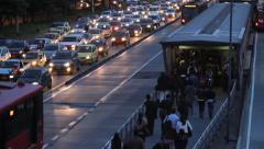 Evening Rush hour Bogota Colombia - stock footage