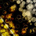 Stock Illustration of bright colorful circles with bokeh background