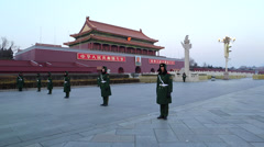 Beijing, Tiananmen Square, Gate of Heavenly Peace Stock Footage
