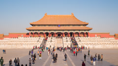 Time lapse - Beijing, Forbidden City, Imperial Palace Stock Footage