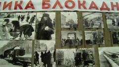 Pictures of the siege of Leningrad 2.7K. Stock Footage