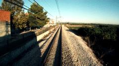 Time Lapse Train Transit - stock footage