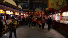 Beijing, Donghuamen Night Market Stock Footage
