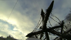 Military barriers, obstacles 2.7K. Stock Footage