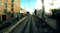 Time Lapse Train Transit - stock footage