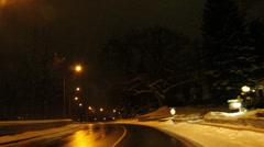 Ajaminen River Road Niagara Falls yöllä Arkistovideo