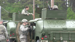 US - Army - Security Forces 01 Stock Footage