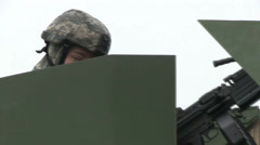US - Army - Security Forces 02 Stock Footage