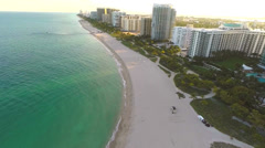 Aerial video of Bal Harbour Beach Florida Stock Footage