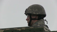 US - Army - Security Forces 06 - HMMWV Stock Footage