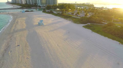 Aerial video of Haulover Beach at sunset Stock Footage