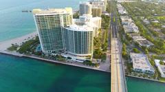 One Bal Harbour Condominium Stock Footage