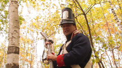 American Soldier with bayonet - stock footage