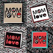 Mom love Stock Illustration