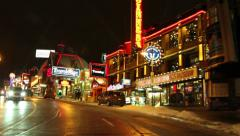 Clifton Hill District at night,  Niagara Falls Stock Footage