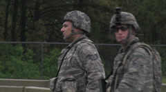 US - Army - Security Forces 09 Stock Footage