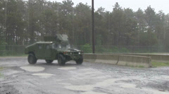 US - Army - Security Forces 13 - HMMWV Stock Footage