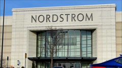 Stock Video Footage of Nordstrom retail store