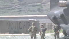 US - Army - Transport Afghan Police 01 - Chinook Stock Footage