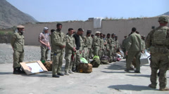 US - Army - Transport Afghan Police 02 Stock Footage