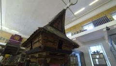 A wooden hut. Kunstkamera. Saint-Petersburg. 2.7K. Stock Footage