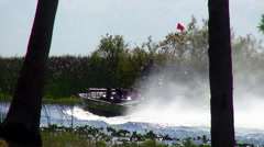 Stock Video Footage of Sightseeing tour on airboat in the grasslands