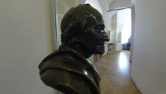 Bust Of Moliere. Kunstkamera. Saint-Petersburg. 2.7K. Stock Footage