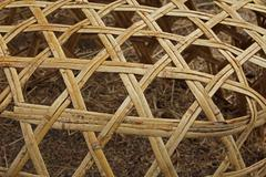 Stock Photo of close up of a giant bamboo basket, india
