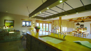Stock Video Footage of Interior view of the kitchen area in a stylish country home