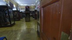 The rooms of the Museum. Kunstkamera. Saint-Petersburg 2.7K. Stock Footage