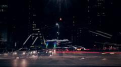 Sao Paulo Time Lapse Traffic - Paulista Avenue, Brazil - stock footage