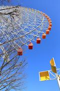 ferris wheel - osaka city in japan - stock photo