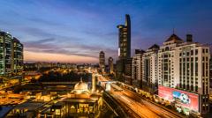 Rush Hour Federal Highway Kuala Lumpur Stock Footage