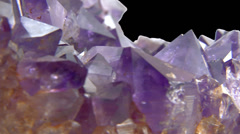 Amethyst close up isolated 12 Stock Footage