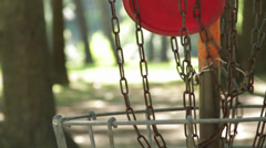 Frisbee Golf Basket - stock footage