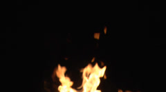 Flames in the background Stock Footage
