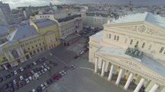 Parking on Theatrical square near Bolshoy Theatre Stock Footage