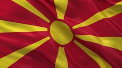 Flag of Macedonia - seamless loop Stock Footage