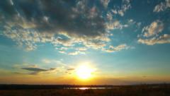 Sunset. 4K. FULL HD, 4096x2304. Stock Footage
