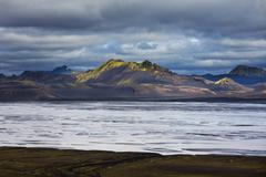 Iceland, landscape of Iceland shore - stock photo