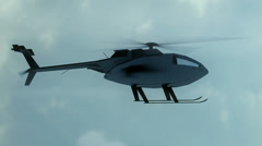 Helicopter CG flying fly Stock Footage