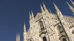 The stunning Duomo di Milano Cathedral in Milan, Italy Stock Footage