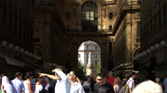 The Piazza della Scala in Milan, Itlay Stock Footage