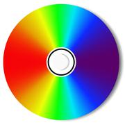 Cd blu ray disc Stock Illustration