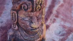 Mayan Statue Close Up Tilt Up Stock Footage