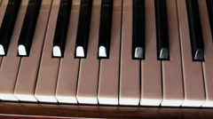 black and white piano keys - stock footage