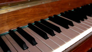 Set of black and white piano keys Stock Footage