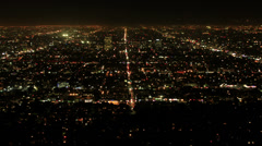 Los Angeles Night View 11 Timelapse Traffic Stock Footage